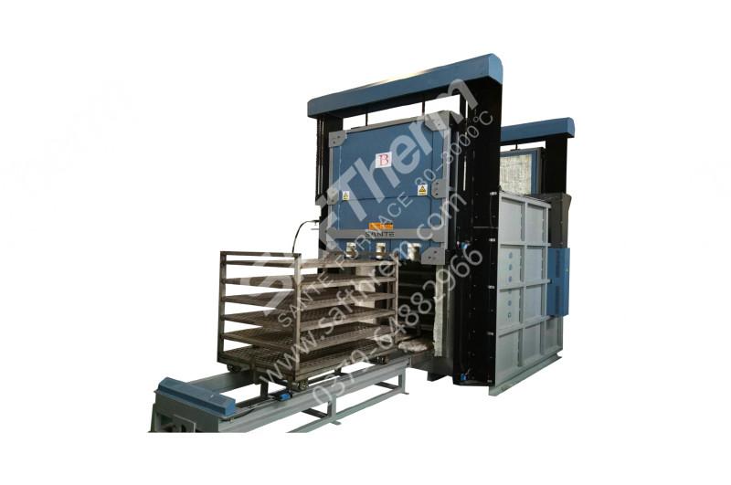 双门台车式热风循环炉