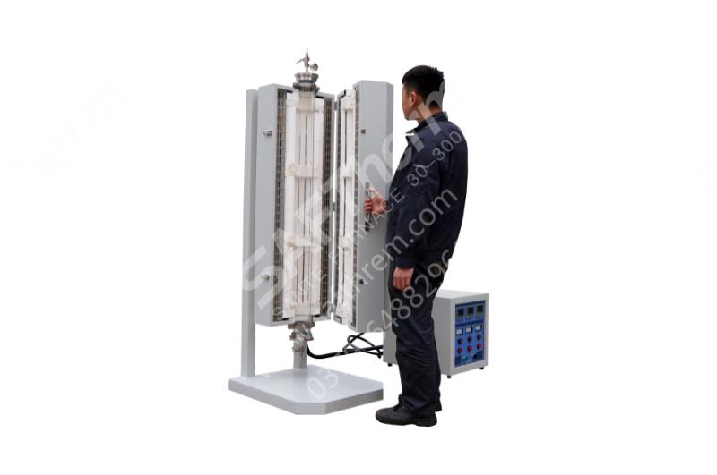 1200℃三区立式管式炉